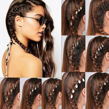 ESBONJ 5Piece/lot  Free shipping 6 designs hair tassels with  golden and silver plated , Fashing hair claws (rings 10pieces/lot)