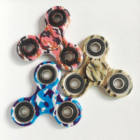 goodsexy Camouflage EDC Fidget Spinner Gyro Triangle finger tip, color printing, EDC bearing, triple rotation gyro