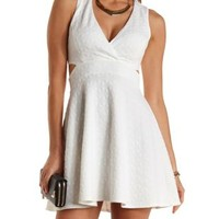 Textured Cut-Out Skater Dress by Charlotte Russe