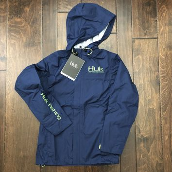 HUK - Youth Packable Jacket - Navy