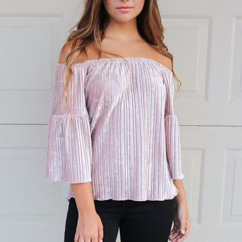 Spring Valley Mauve Off The Shoulder Top