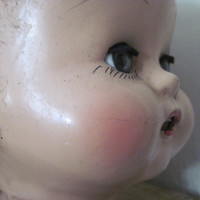 Cheeky Vintage Composition Doll Head