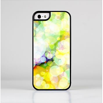 The Glistening Colorful Unfocused Circle Space Skin-Sert Case for the Apple iPhone 5/5s