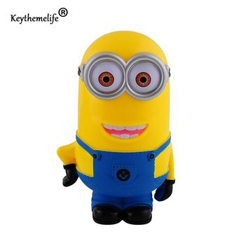 Keythemelife 3D Minions Cartoon Figures Piggy Bank Money Box hucha Saving Coin Cent Penny Children Toy alcancia Baby toy F0