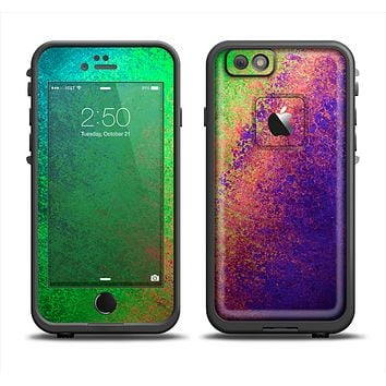 The Vivid Neon Colored Texture Apple iPhone 6 LifeProof Fre Case Skin Set