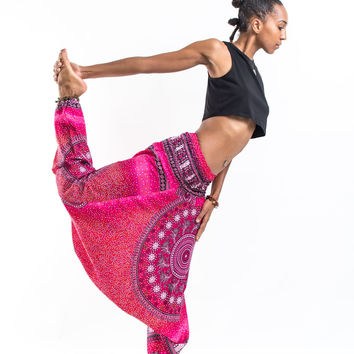 Tribal Chakras Jumpsuit Harem Pants in Pink