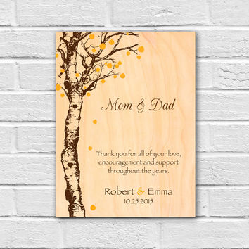 Wedding Gift for Parents, Thank You Parents Gift, Mom and Dad Wedding Gift, Wedding Wall Art Gift, Groom Parents Gift, Bride Parents Gift