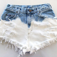 "The ""Half & Half"" Bleached High Waisted Shorts Denim high waisted shorts"