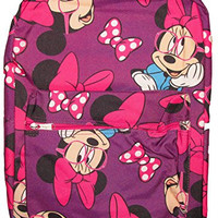 "Disney Nerdy Minnie Mouse Ready For School Backpack 16"" with Laptop Sleeve Purple"