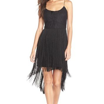 Women's Aidan by Aidan Mattox Fringe Sheath Dress,