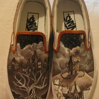 Custom Harry Potter shoes by PaperandPinfeathers on Etsy