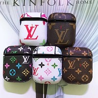 Stylish LV LOUIS VUITTON Fashion AirPods Leather Case