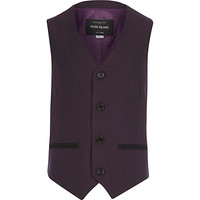 River Island Boys purple suit vest