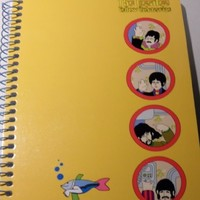 THE BEATLES YELLOW SUBMARINE 60 pages Spiral Bound Notepad Notebook