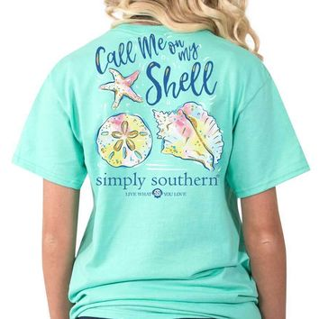 Simply Southern Call Me on My Shell Tee
