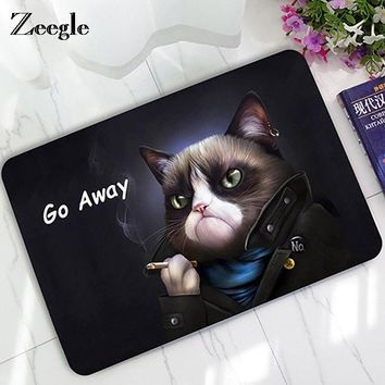 Autumn Fall welcome door mat doormat Zeegle Cat And Dog  Carpet Humorous Funny Words Go Away Entrance Indoor Floor Mat Non-slip  Bath Rug AT_76_7