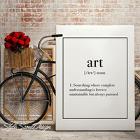 Definition Art Typography print, dorm decor, coffee print, Wall Art print, Typography Poster