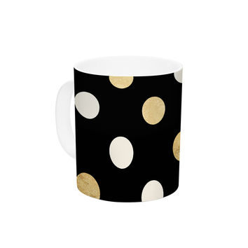 "KESS Original ""Golden Dots"" Ceramic Coffee Mug"