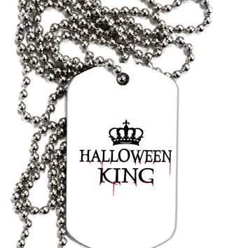 Halloween King Adult Dog Tag Chain Necklace by TooLoud