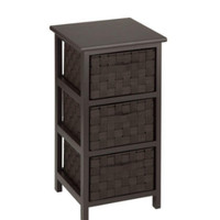 3-Drawer Storage Chest with Three Spacious Drawer Home Furniture Espresso Finish