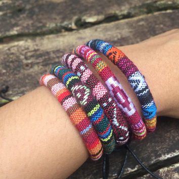Boho Aztec Bracelets Anklet Hippie Friendship Woven Bracelet Ethnic Bohemian tribal Festival jewelry gifts for Vegan Women Men Surfer Unique