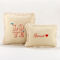 Burlap Toss Pillows | Pillows and Throws| Home Decor | World Market