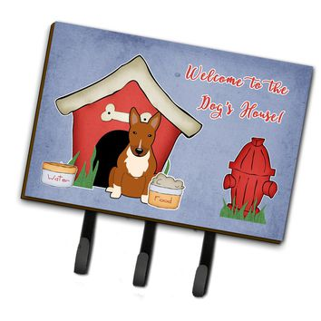 Dog House Collection Bull Terrier Red Leash or Key Holder