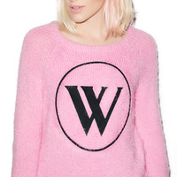 Wildfox Couture Logo Party Sweater Dream House
