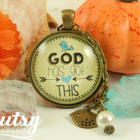 God Has Got This Christian Necklace God Quotes Faith Inspirational Jewelry Necklace Bird Charm