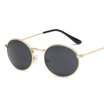 NYWOOH Small Round Sunglasses Men Women Brand Designer Vintage Sun Glasses Matel Frame Sunglass Shades