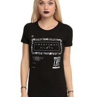 Twenty One Pilots Palm Frame Girls T-Shirt