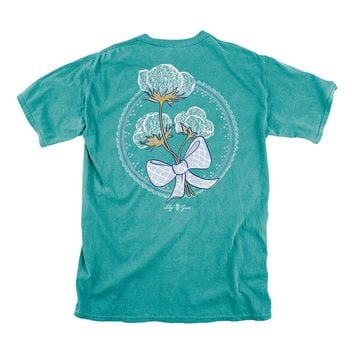 Cotton Tee in Seafoam by Lily Grace