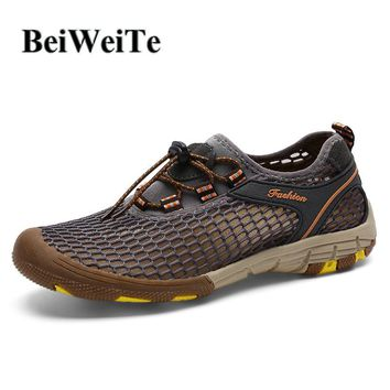 BeiWeiTe Autumn Men's Tourism Hiking Shoes Breathable Camping Fishing Sneakers Man Non Slip Wearable Outdoor Light Walking Shoes