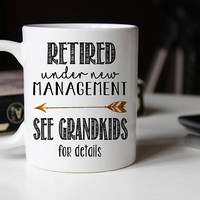 Retirement gift for grandpa, Full Time Grandpa, Retirement Gifts for Men, Retirement mug, Retirement Coffee Mug, Retirement gift ideas