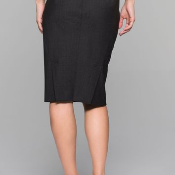 NWT Theory Aniko Tailor Black Wool Skirt, Size 4