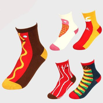Food Collection - Mid-high Socks Funny Crazy Cool Novelty Cute Fun Funky Colorful