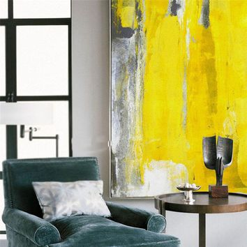 HAOCHU Minimalist Picture Creative Imagine Canvas Painting Abstract Impresse Poster Props Wall Art Living Office Bedroom Decor