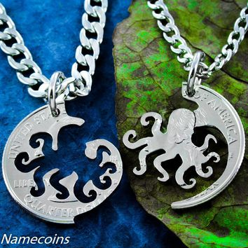 Octopus Best Friends Necklaces
