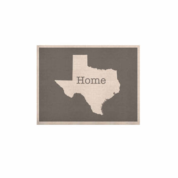 "Bruce Stanfield ""Texas Is Home"" White Gray KESS Naturals Canvas (Frame not Included)"