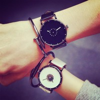 Comfortable Vintage Fashion Quartz Classic Watch Round Ladies Women Men wristwatch On Sales = 4662291332