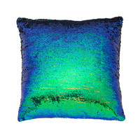 Color-changing Pillow Cover Iridescent Green & Black