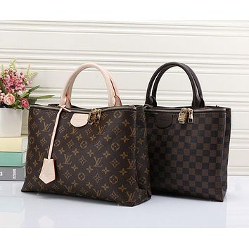 Louis Vuitton LV Fashion Shopping Leather Tote Crossbody Satchel Shoulder Bag Handbag