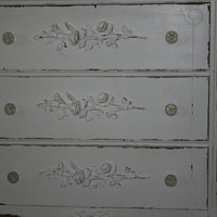 1 Rose Furniture applique / chic furniture appliques / onlays / romantic cottage / shabby chic / DIY