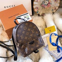 LV Louis Vuitton Trending Women Stylish Monogram Leather Daypack School Bag Backpack I-BCZ(CJZX)