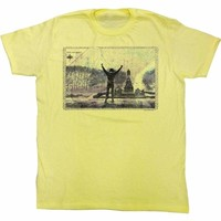 ROCKY-1977 PHILLY-YELLOW HEATHER ADULT S/S TSHIRT