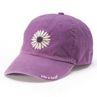 Life Is Good Women's Floral Baseball Hat, Size: One Size (Purple)