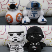 Star Wars Plush Pillows. Choice of Darth Vader, Storm Trooper, R2D2 or BB-8