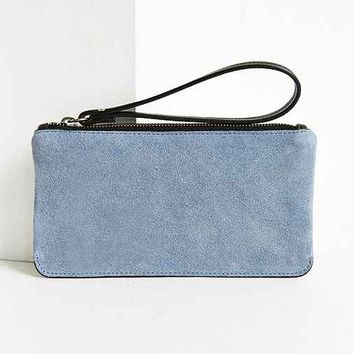 Simple Suede Contrast Wristlet