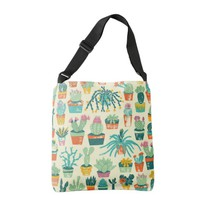 Colorful Cactus Flower Pattern Cross Body Bag