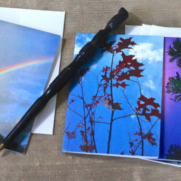 Photo Notecards, Set of 4 Notecards, Nature Notecards, Landscape Notecards, Rainbow Notecards, Blank Notecards, Fine Art Photo
